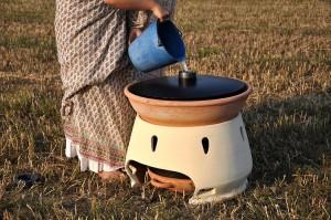 Horno solar para hacer agua potable